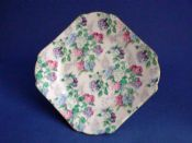 Vintage Shelley Fine Bone China 'Pink Summer Glory' Chintz Tea Plate c1945